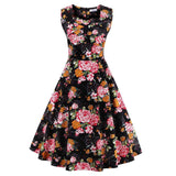 Tunic Vestidos S-4XL Plus Size Women Dress Summer Floral Print Retro Casual Party Robe Pinup Rockabilly 50s Vintage Dresses