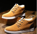 Online discount shop Australia - Hot Boots Men's Casual Shoes Boots Plus Velvet Warm Shoes To Help Low Suede Shoes