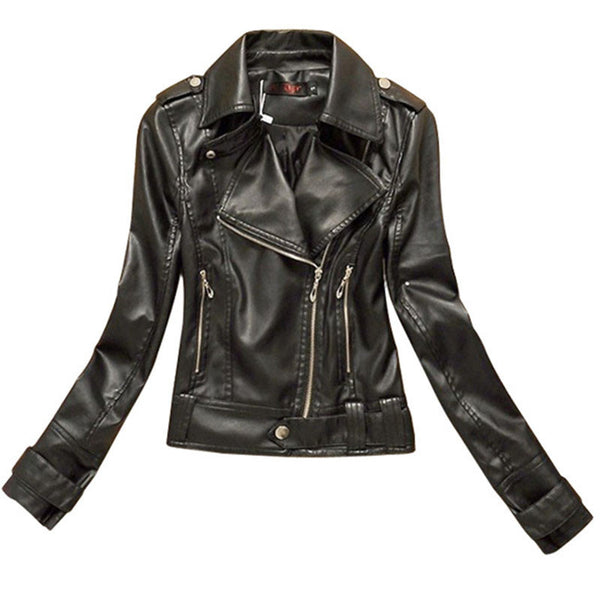 Online discount shop Australia - Big size XS XXL XXXL Women Leather Jackets and Coats Short Zipper Motorcycle Leather Jacket Pu Outerwear Coat