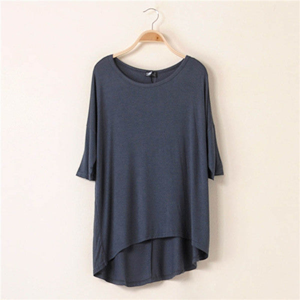 Online discount shop Australia - Cotton Casual Women Oversized Batwing Short Sleeve T-shirts Loose Tops Tee 16 Colors