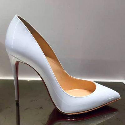 dede5a16690 Top Quality Women Pumps Cow Muscle Red Bottom High Heels Sexy Pointed Toe  Red Sole Wedding