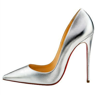 Women Pumps Cow Muscle Red Bottom High Heels Pointed Toe Red Sole Wedding Shoes Size 12 heels Plus Size 34-46