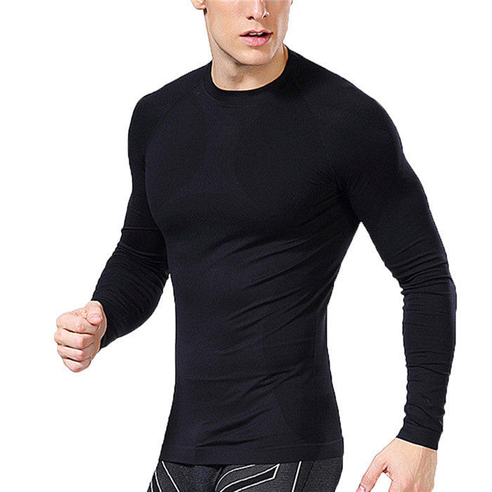 New Men Compression Under Base Layer Tops Tights Long Sleeve T Shirts GearBlackLa