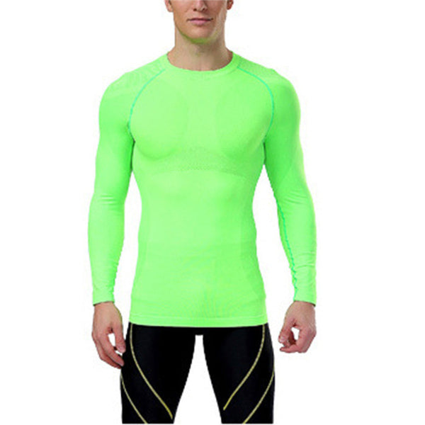 New Men Compression Under Base Layer Tops Tights Long Sleeve T Shirts Gear