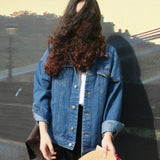 Online discount shop Australia - Bf Wind And Women Denim Jacket Vintage Harajuku Oversize Loose Female Jeans Coat Solid Slim Chaquetas