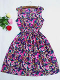 women European style plus size Fashion party Vest dress sexy Flower prints Slim Mini Dress Spring new summer dresses