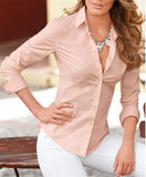New Fashion Blouse Shirt Women Work Wear Long Sleeve Tops Slim Women's Blouses Shirts Casual S-XL