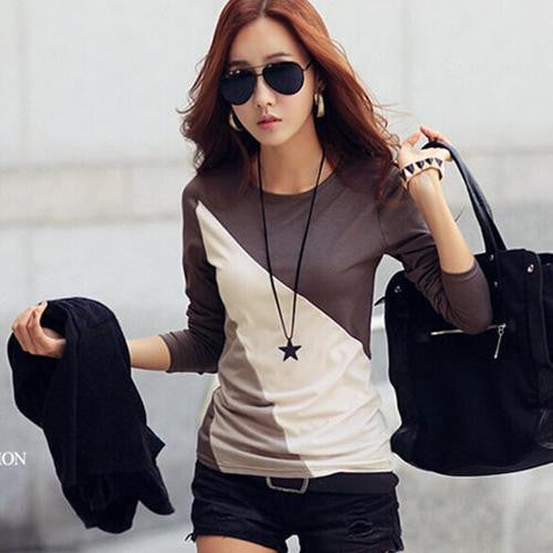 Online discount shop Australia - Fashion Cotton Blouse Women Shirts Blouses Casual O Neck Long Sleeve Cotton Tops 2 Styles