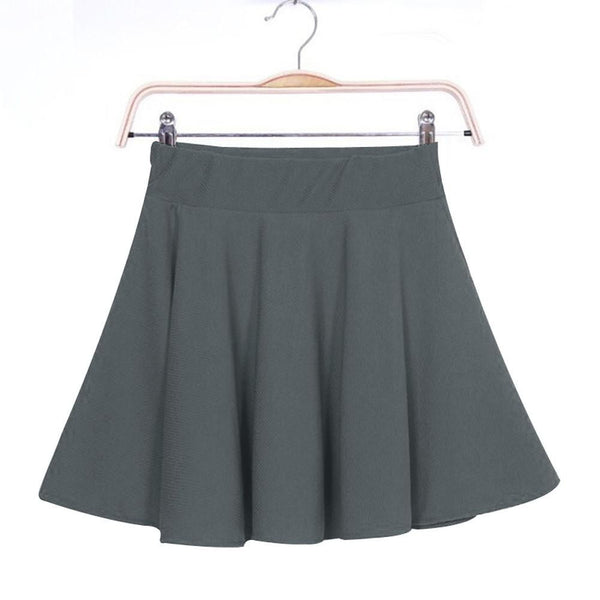 Women Skirt Sexy Mini Short Skirt Fall Skirts Womens Stretch High Waist Pleated Tutu Skirt