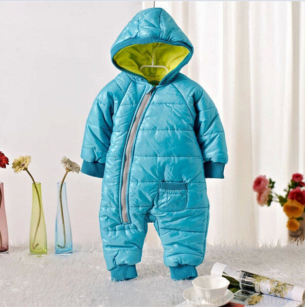 77b593141129 Baby Snow Wear Cotton One Piece Warm Outerwear Children s Overalls ...