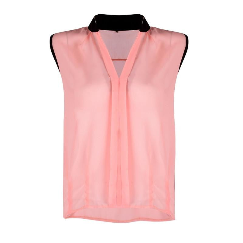 b70d9a066c885 Women s Sleeveless Vest Casual Chiffon Business Loose Tops Blouse Tank  Office Lady Type