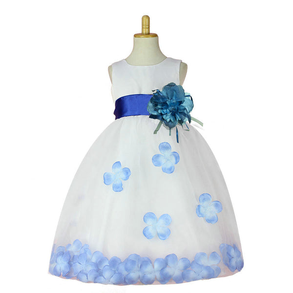 Online discount shop Australia - Girls Bridesmaid Dress Rose Petal Hem Cute Princess Tutu Dress Girls Clothing Sets Wedding Birthday
