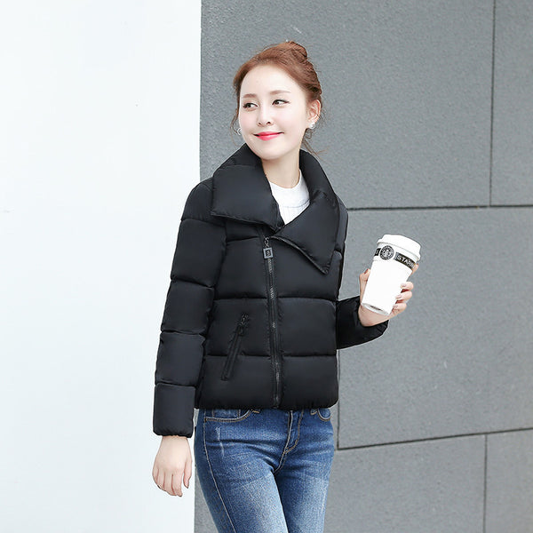 Online discount shop Australia - Fashion Women's Down Jacket Female Warm Coat Ladies Casual Short Parka Soft Clothing JA8023