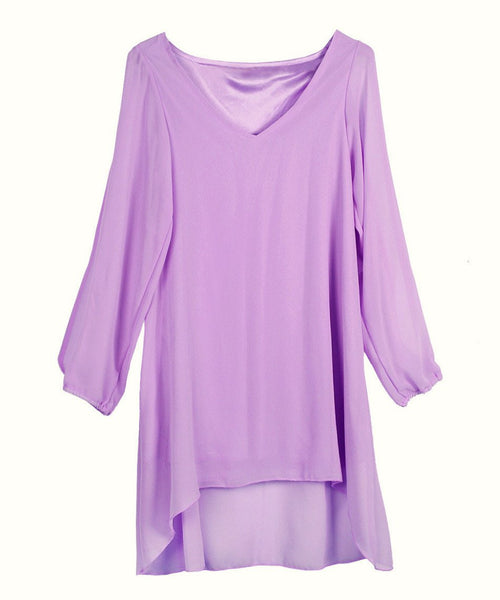 Sexy Beach Clothing Party Women Chiffon Dress Nine color S-XXXL Maxi Size