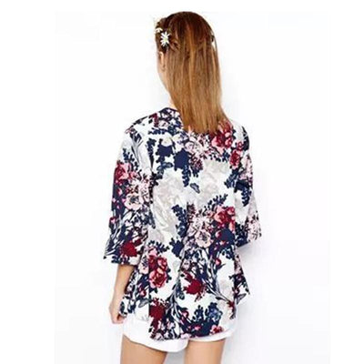 Online discount shop Australia - Miss Europe New Fashion Simple Printed Cardigan Jacket Kimono Jacket womens  clothes Cotton flower jacket
