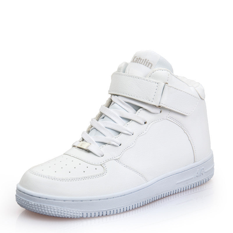 Newest Classic All White Unisex Casual Shoes Footwear High Top Men Women Breathable Walking Shoes Plus Size Outdoor Shoes 35-44high top 616a