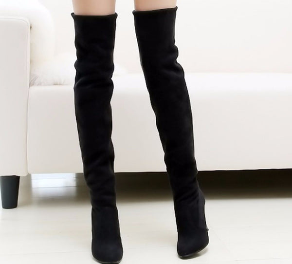 Online discount shop Australia - Big Size 34-43 High Heels Women Boots Over the Knee High Boots Party Sexy Lady Fashion Woman Shoes New