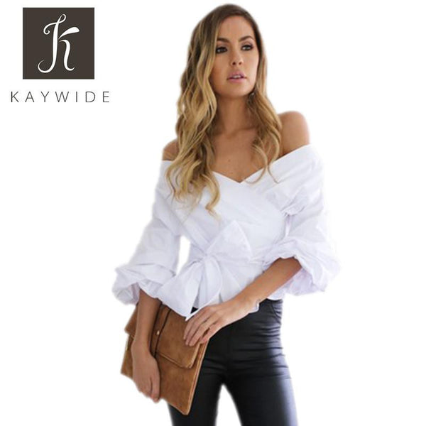 Women Blouse Series Off Shoulder Half Sleeve Casual Solid Crop Tops Streetwear Shirt For Women