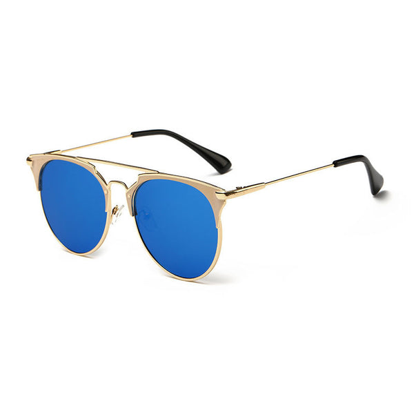 4d58d7b7c592 Fashion Retro Round Cat Eye Sunglasses Men Women Designer Eyewear Metal  Frame UV400 Glasses