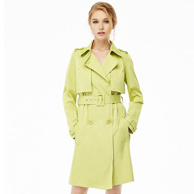Online discount shop Australia - Naked Zebra Woman Clothing Solid Color Long-Sleeved Lady Lacing Long Windbreak Waist Slimming Women Pockets Trench Coats