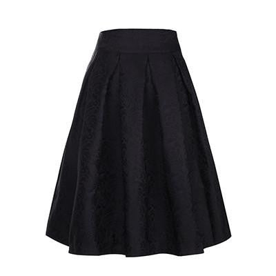 Women Midi Skirt High Waist Skater Tutu Skirts Pleated Style School Skirt Sun saia longas casual stars skirt