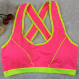 Slim Sexy Fitness keep fit Women Lady Bra Solid Wrap Chest Strap Vest Tops Bra bandage crop top