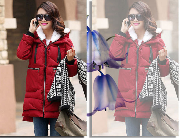 Online discount shop Australia - Coats And Jackets Woman Down Casual Jacket Plus Size M-XXXL Hooded Coat Long Style Parka Womens Jackets WC747