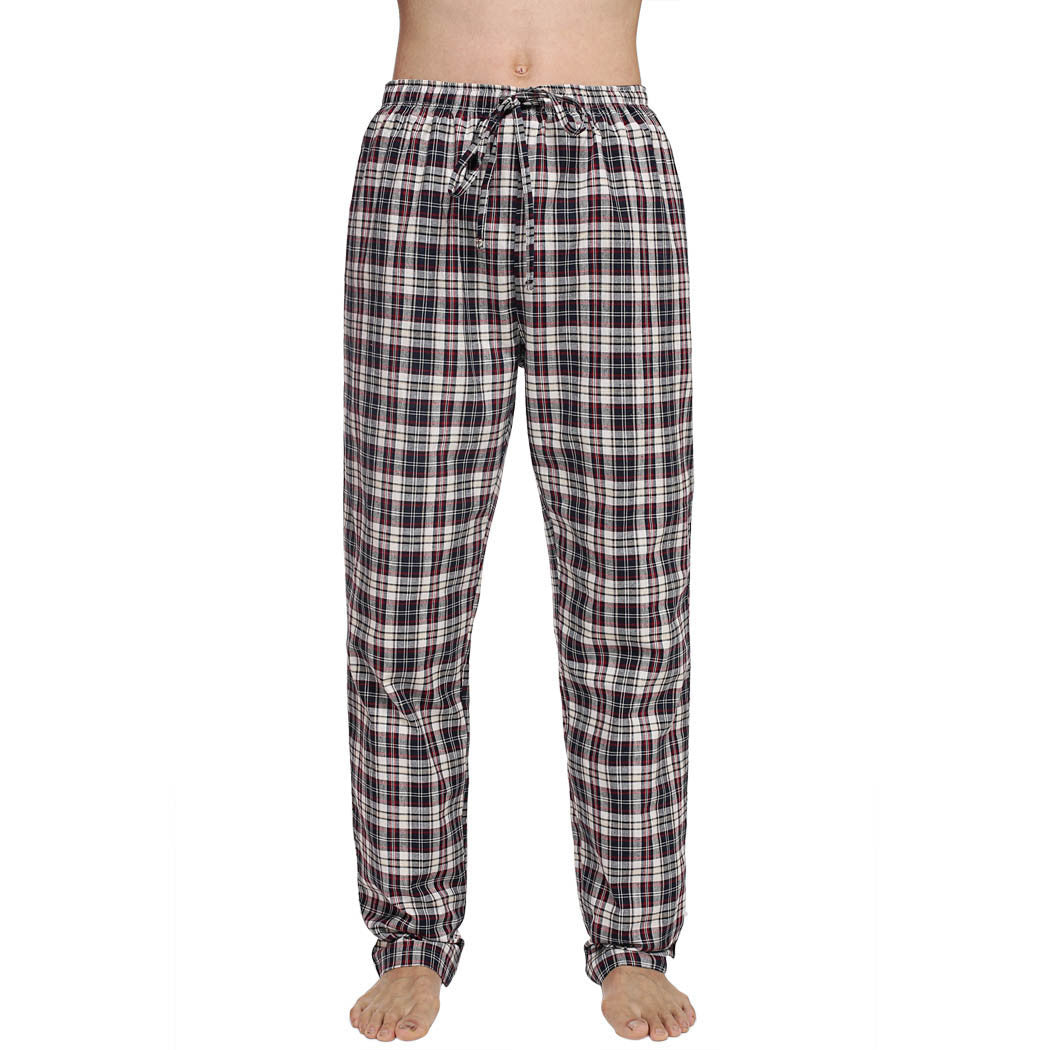 Avidlove Men Multicolor Plaid Sleepwear Lounge Pajamas Male Pants TrousersRed White BlueLa