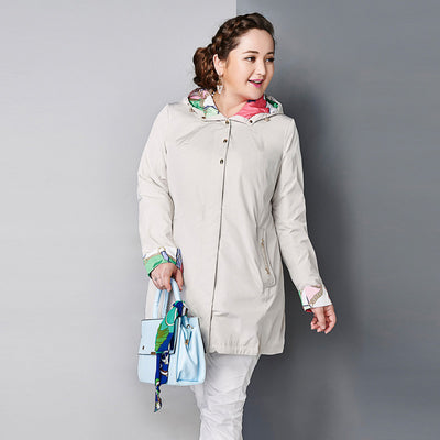 Online discount shop Australia - Astrid Women's Coat High Quality  Trench Coat Slim Hooded Chain Big Size Fashion AY-1670
