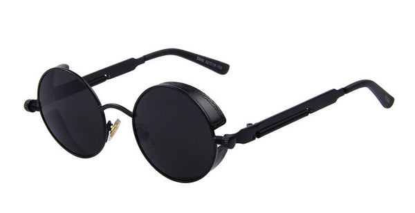 Vintage Women Steampunk Sunglasses Brand Design Round Sunglasses