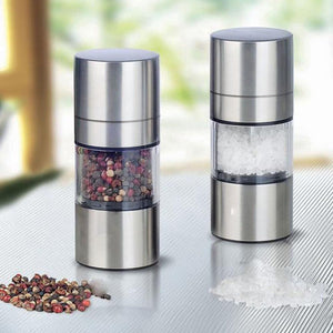 Stainless Steel Manual Salt Pepper Mill Grinder Portable Kitchen Mill Muller Home Kitchen Tool Spice Sauce Grinder Pepper Mill