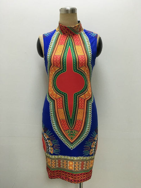 Women Summer Dress Robe Sexy Mini Printed Boho Ladies Dresses African Sundress Short Vintage Bodycon Dress Clothing
