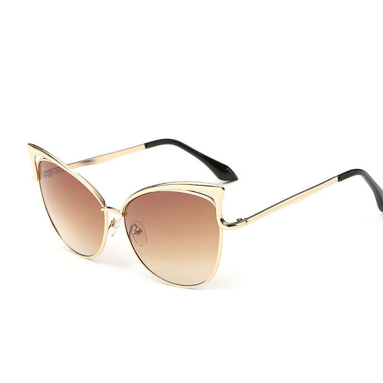 Pink vintage Mirror female Women Cat Eye Sunglasses Brand Designer ladies Sun glasses for women Eyeweara
