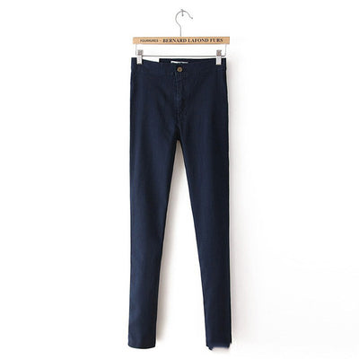 women jeans high waist denim slim casual sexy pencil pants washed trousers skinny jeans