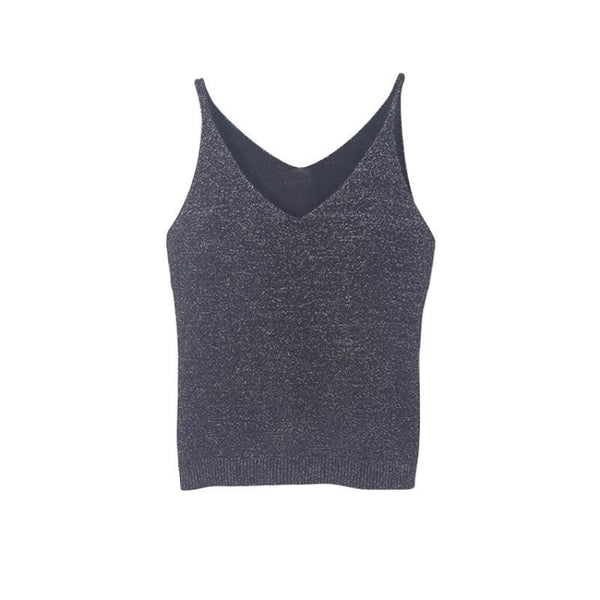 Sexy Women Fashion Knitting Vest Top Sleeveless V-Neck Blouse Casual Tank Tops