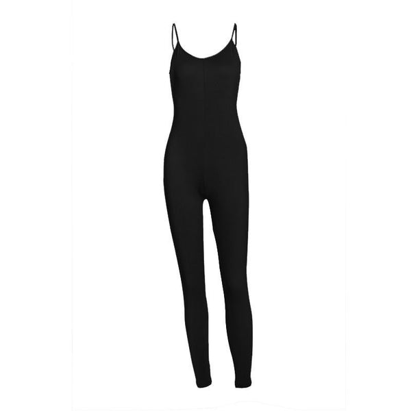 Women Jumpsuit Fashion Sleeveless Simple And Elegant Bodycon Slim Playsuit Macacao WKL303