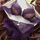 Sexy Underwear Women Bra Set Vs Victoria Lingerie Set Luxurious Vintage Lace Embroidery Push Up Bra And Panty Set France Bras