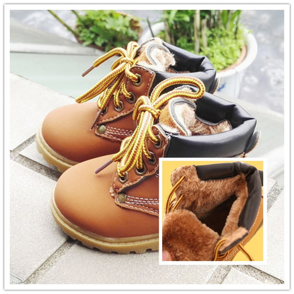 Comfy kids Fashion Child Leather Snow Boots For Girls Boys Warm Martin Boots  Shoes Casual Plush 1faf99e19d99