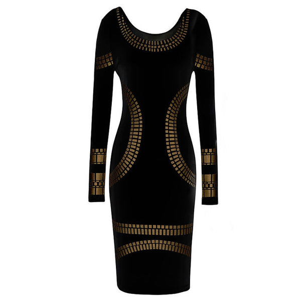 33eeb800a0cd New Arrival Autumn and Winter Warm Cotton Pencil Dress Round Neck Long-sleeved  Mini Dress