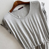 Summer dress Casual Stripe women summer dress tank sleeveless dresses casual solid color