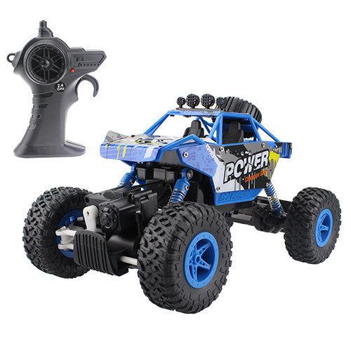 RC Car 2.4G 4CH 4WD Rock Crawlers 4x4 Driving Car Double Motors Drive Bigfoot Car Remote Control Car Model Off-Road Vehicle ToyBluea