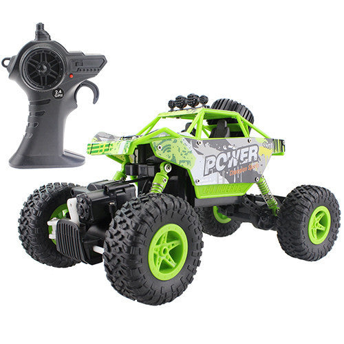 RC Car 2.4G 4CH 4WD Rock Crawlers 4x4 Driving Car Double Motors Drive Bigfoot Car Remote Control Car Model Off-Road Vehicle ToyGreena