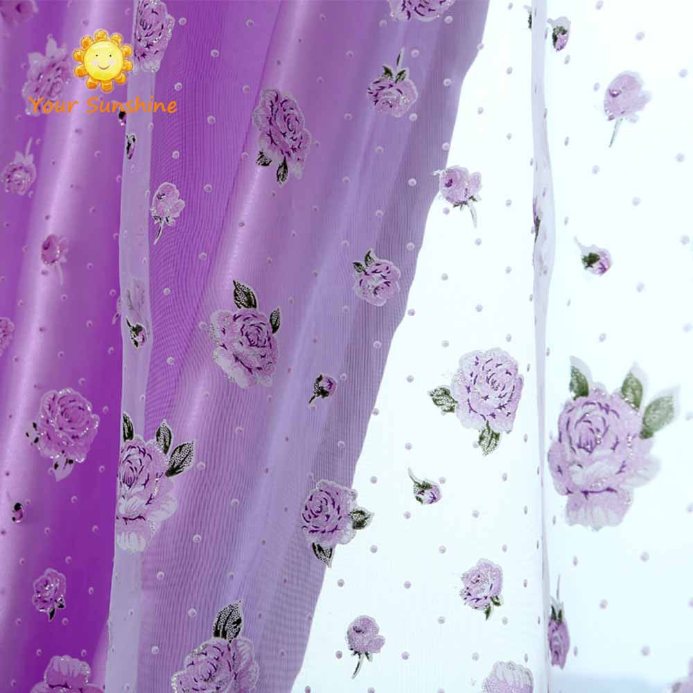 rose modern tulle for windows shade sheer curtains fabric for kitchen blinds living room the bedroom window treatmentsrod pocketW140 x H270cma