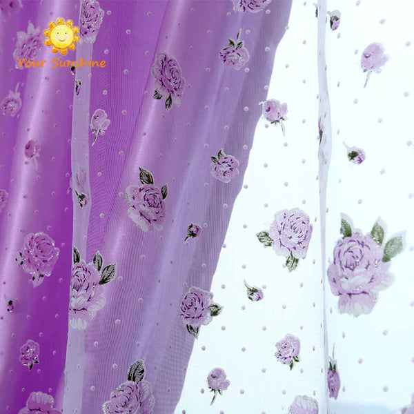 Rose Modern Tulle For Windows Shade Sheer Curtains Fabric