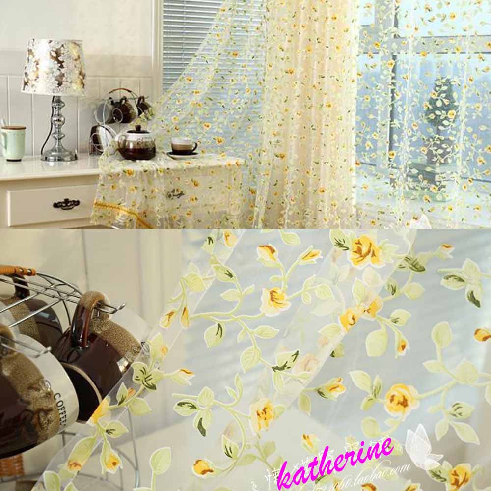 rose modern tulle for windows shade sheer curtains fabric for kitchen blinds living room the bedroom window treatmentsrod pocket 3W600 x H270cma
