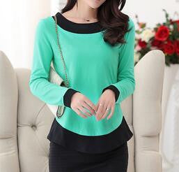 Woman T Shirt Long Sleeved Casual Slim Basic shirt O-neck Women Tshirt Plus size 2XL  Ladies Tops