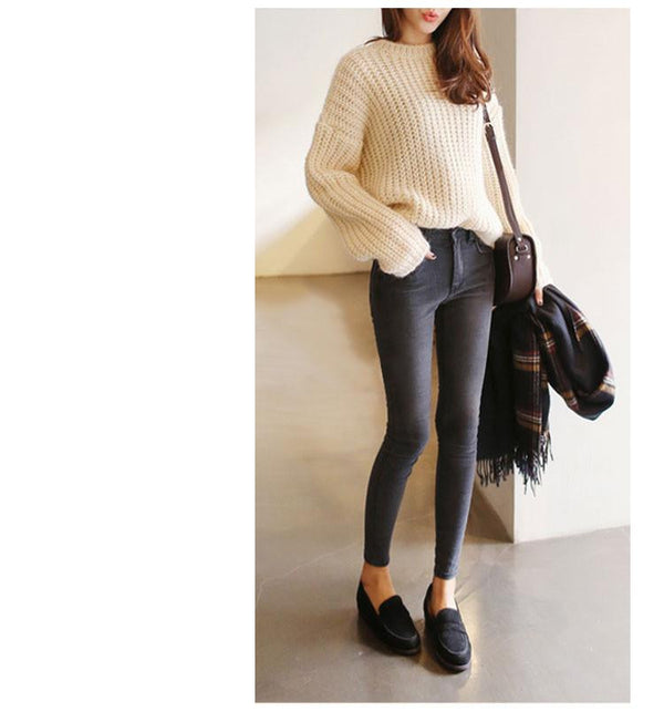 26e21a82 Skinny Jeans Woman Autumn New Pencil Jeans For Women Fashion Slim  Ankle-Length Jeans Women's