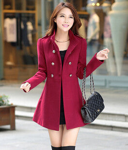 Online discount shop Australia - Fashion Trench Coat Women New Stand-Collar Cashmere  Coat Woman Slim Outerwear Casaco AE-ME-110