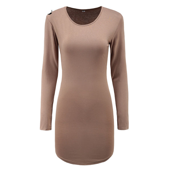 Online discount shop Australia - Missufe Vintage Clothing Winter Long Sleeve Mini Bodycon Tunic Slim Party Sexy Clubwear Side Split Tshirt Bandage Dresses