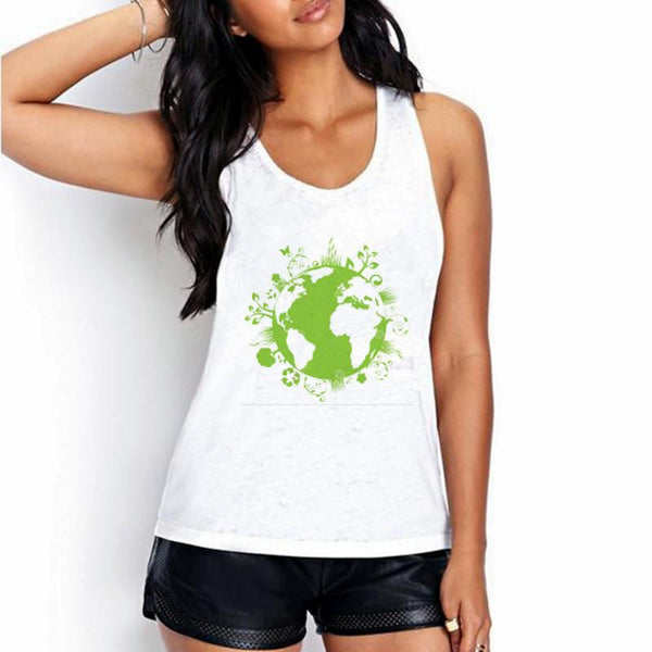Women White Tank Tops The owl of contemplation Print 20 Colors Women Sleeveless Round Neck Tank Tops BX41-60